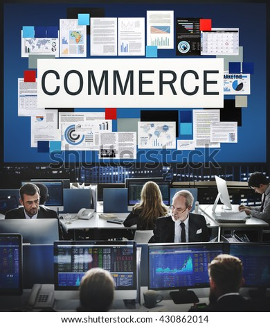 Commerce Selling Buying Business Concept