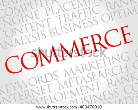 COMMERCE word cloud, business concept - stock photo