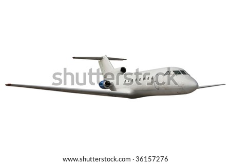 Commercial airliner isolated over white background