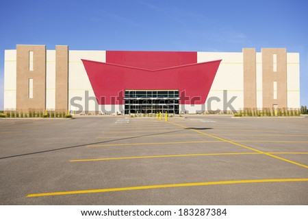 Commercial Building before the opening, hdr. - stock photo
