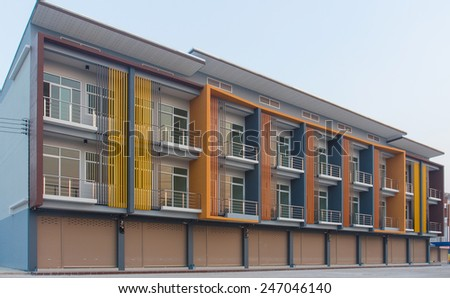 Commercial building business. - stock photo