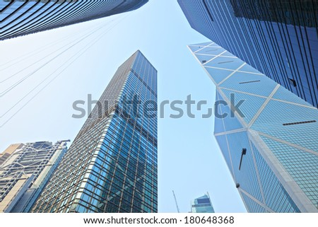 Commercial building to sky - stock photo
