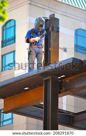 Commercial Construction Site - stock photo