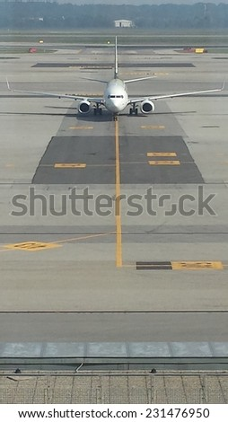 Commercial flight  - stock photo