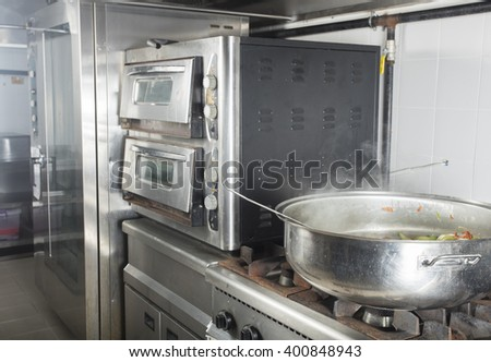 commercial kitchen in a hotel or restaurant