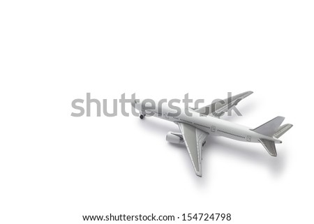 commercial plane model  - stock photo