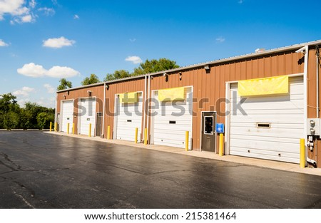 Commercial, Retail and Office building - stock photo