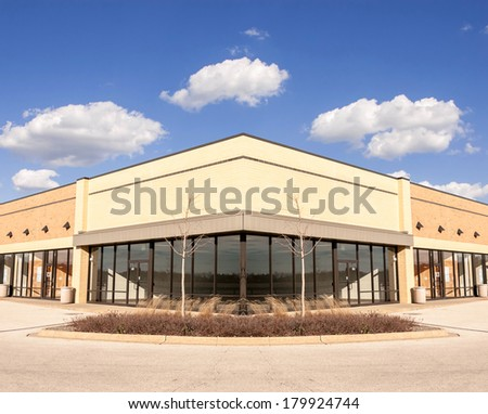 Commercial, Retail Office building Space available for sale or lease for use as Storefront, restaurant or office space - stock photo