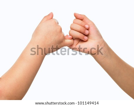 Commitment to hands - stock photo
