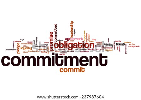 Commitment word cloud concept - stock photo