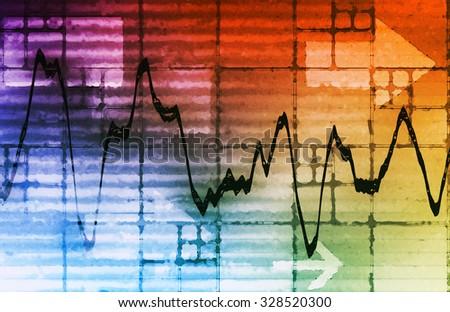 Commodities Trading and Price Analysis News Art - stock photo