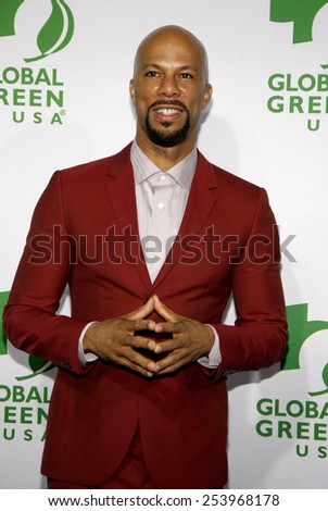 Common at the Global Green USA's 12th Annual Pre-Oscar Party held at the Avalon in Los Angeles on Wednesday February 18, 2015. - stock photo