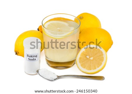 common home remedy to treat gout lemon juice mixed with baking soda
