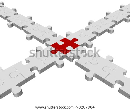Common link - stock photo