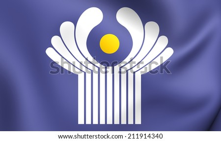 Commonwealth of Independent States Flag. Close Up. - stock photo