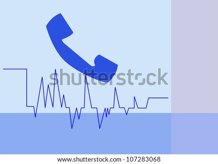 Communicating by phone - stock photo