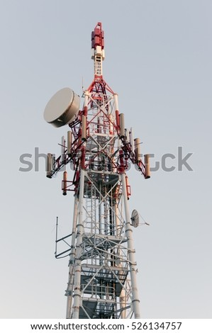 Communication and broadcast tower in Varese