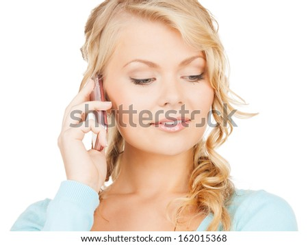 communication and technology concept - businesswoman with cell phone making a call - stock photo