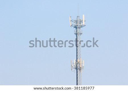 Communication Antennas in Blue Sky