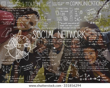 Communication Community Computing Connection Concept - stock photo