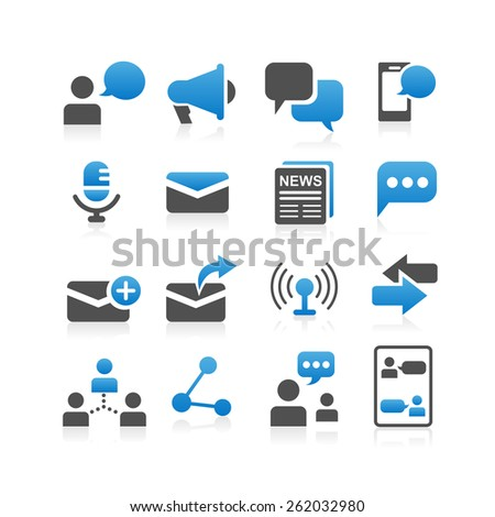 Communication concept icon set - Simplicity Series - stock photo