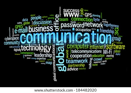 communication concept image word cloud - stock photo