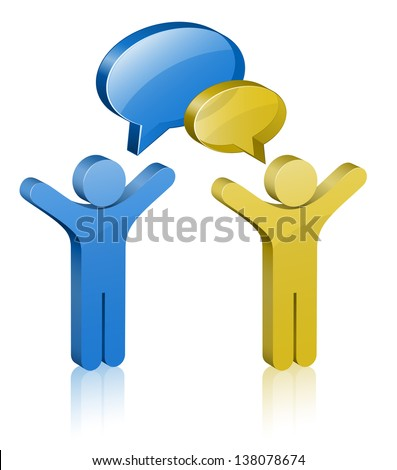 Communication Concept. Social Network. Raster version - stock photo
