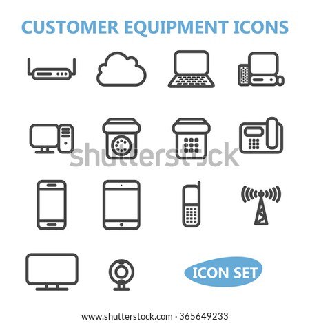 Communication Equipment Icons