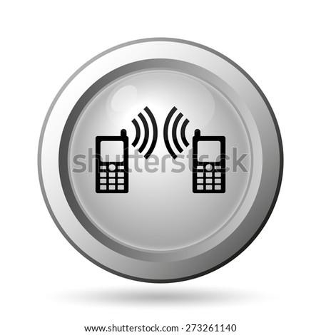 Communication icon. Internet button on white background.  - stock photo