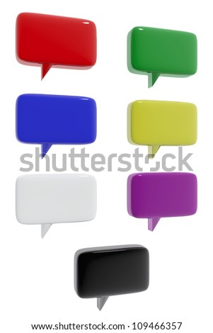 Communication icons of different colors