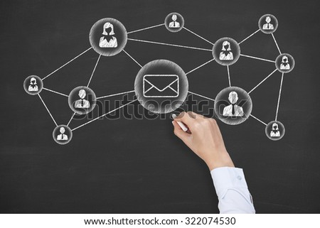 Communication Mail Concept  - stock photo