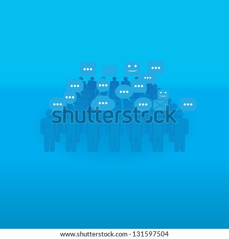 communication. people with talk bubbles.(vector version also available in my gallery) - stock photo