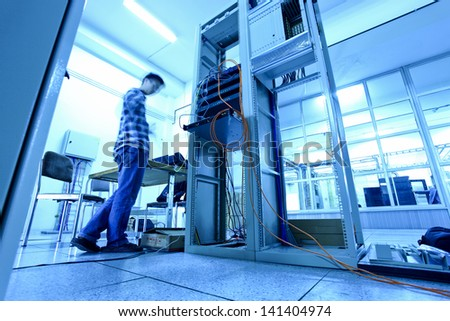 communication  room - stock photo