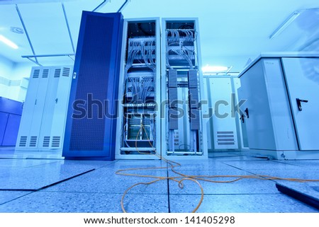 communication  room - stock photo