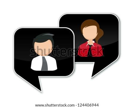 Communication Speech Bubble - stock photo