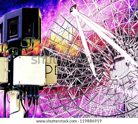 Communication system abstract illustration