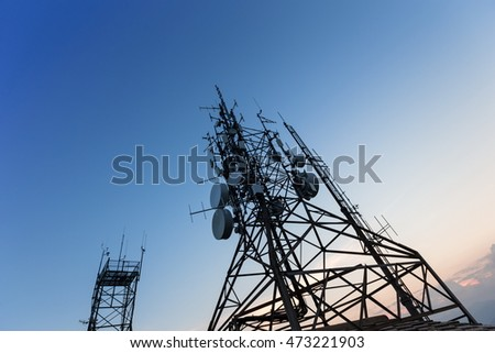 communication tower for broadcasting in the digital world