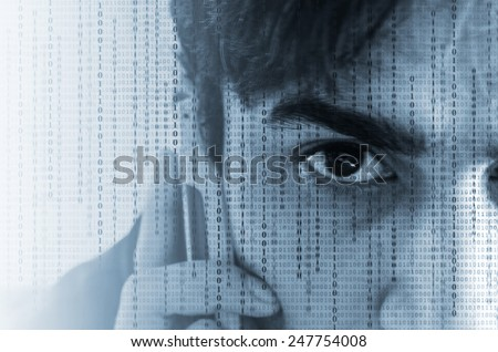 Communications data technology - stock photo