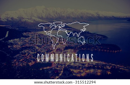 Communications Global World Business International Concept - stock photo