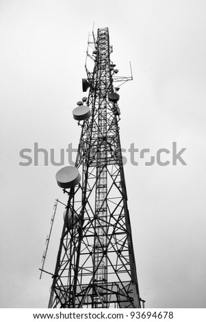 Communications Tower - stock photo