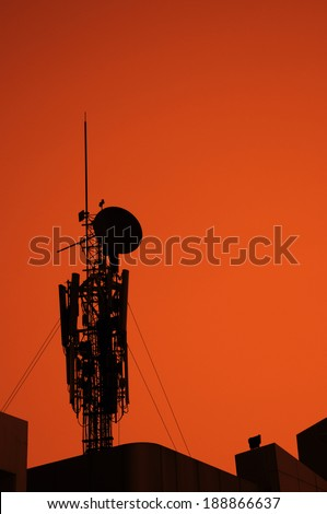 communications tower - industry radio wave broadcasting technology global
