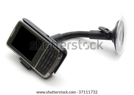 communicator isolated on a white background - stock photo