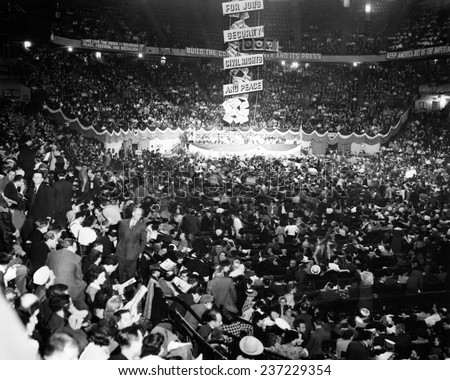 Communist Party Nominating Convention Gathered in Madison Square Garden they nominated Earl Browder for President.