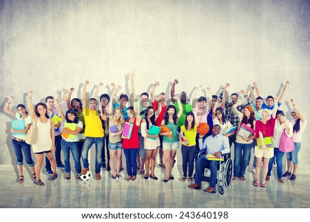 Community Diversity Group Cheerful Happiness Team Concept - stock photo