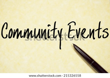 community events text write on paper  - stock photo