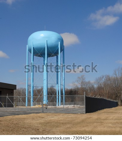 community public water tower utility - stock photo