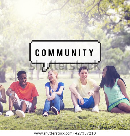 Community Society Connection Togetherness Unity Concept - stock photo