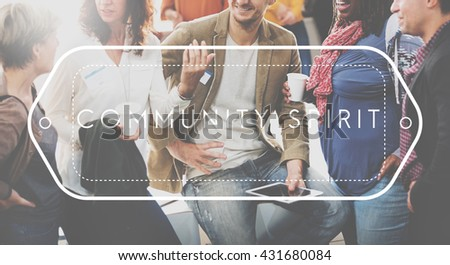 Community Spirit Society Connection Togetherness Unity Concept - stock photo