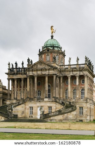 Communs is situated opposite the New Palace in Sanssouci Park, Potsdam - stock photo