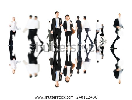 Commuter Business Business People Corporate Colleagues Concept